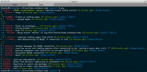 Terminal Git-Log - www.slant.co